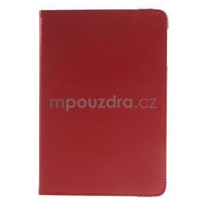 PU kožené 360 °  pouzdro pro iPad mini- červené - 2
