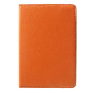 PU kožené 360 °  pouzdro pro iPad mini- oranžové - 2