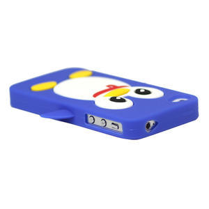 Silikonový Tučňák na iPhone 4 4S - modrý - 2