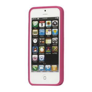 Gelové PUNTÍK pouzdro pro iPhone 5, 5s- růžový - 2
