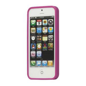Gelové PUNTÍK pouzdro pro iPhone 5, 5s- fialový - 2