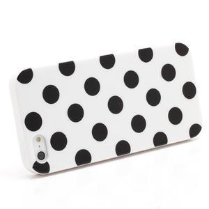 Gelové PUNTÍK pouzdro pro iPhone 5, 5s- bílé - 2