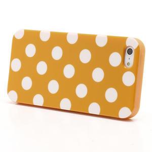 Gelové PUNTÍK pouzdro pro iPhone 5, 5s- oranžové - 2