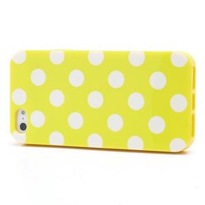 Gelové PUNTÍK pouzdro pro iPhone 5, 5s- žluté - 2