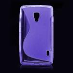 Gelové S-line pouzdro pro LG Optimus L7 II P710- fialové - 2/4