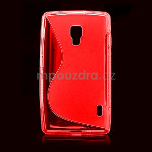 Gelové S-line pouzdro pro LG Optimus L7 II P710- červené - 2