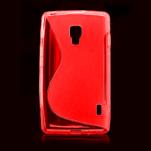 Gelové S-line pouzdro pro LG Optimus L7 II P710- červené - 2/4