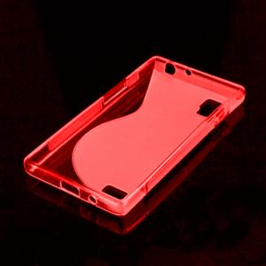 Gelové S-line pouzdro pro LG Optimus L9 P760- červené - 2