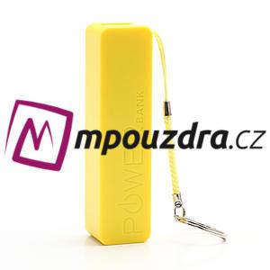2600mAh externí baterie Power Bank - žlutá - 2