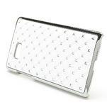 Drahokamové pouzdro pro HTC Desire 600- bílé - 2/4