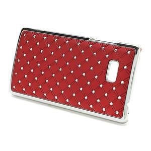 Drahokamové pouzdro pro HTC Desire 600- červené - 2