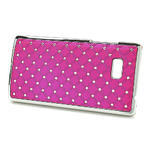 Drahokamové pouzdro pro HTC Desire 600- růžové - 2/5