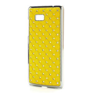 Drahokamové pouzdro pro HTC Desire 600 -žluté - 2