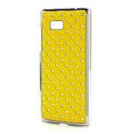 Drahokamové pouzdro pro HTC Desire 600 -žluté - 2/5