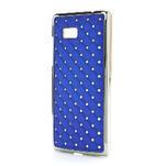 Drahokamové pouzdro pro HTC Desire 600- modré - 2/5