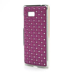 Drahokamové pouzdro pro HTC Desire 600- fialové - 2