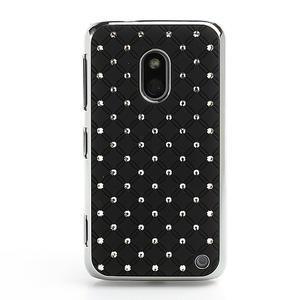 Drahokamové pouzdro na Nokia Lumia 620- černé - 2