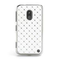 Drahokamové pouzdro na Nokia Lumia 620- bílé - 2/4