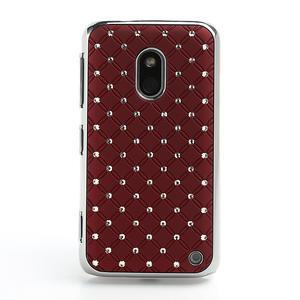 Drahokamové pouzdro na Nokia Lumia 620- červené - 2