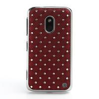 Drahokamové pouzdro na Nokia Lumia 620- červené - 2/4