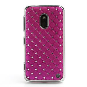 Drahokamové pouzdro na Nokia Lumia 620- růžové - 2