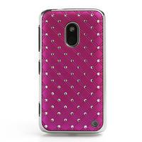 Drahokamové pouzdro na Nokia Lumia 620- růžové - 2/4