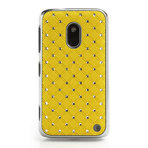 Drahokamové pouzdro na Nokia Lumia 620- žluté - 2