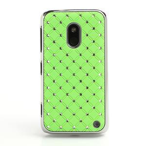 Drahokamové pouzdro na Nokia Lumia 620- zelené - 2