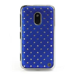 Drahokamové pouzdro na Nokia Lumia 620- modré - 2