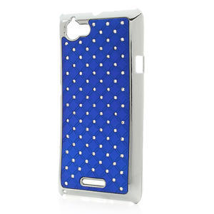 Drahokamové pouzdro na Sony Xperia L C2105- modré - 2