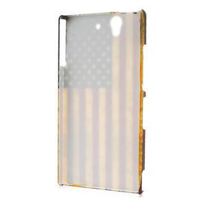 Plastové pouzdro na Sony Xperia Z L36i C6603- Americká vlajka - 2