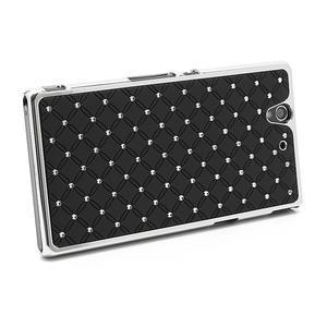 Drahokamové pouzdro na Sony Xperia Z L36i C6603- černé - 2