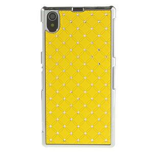 Drahokamové pouzdro na Sony Xperia Z1 C6903 L39- žluté - 2