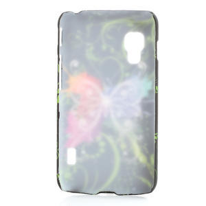 Plastové pouzdro pro LG Optimus L5 Dual E455- vlající motýl - 2