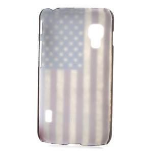 Plastové pouzdro pro LG Optimus L5 Dual E455- USA vlajka - 2