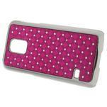 Drahokamové pouzdro na Samsung Galaxy S5 mini G-800- růžové - 2/5