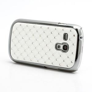 Drahokamové pouzdro pro Samsung Galaxy S3 mini i8190- bílé - 2