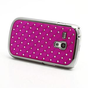 Drahokamové pouzdro pro Samsung Galaxy S3 mini i8190- růžové - 2
