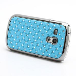 Drahokamové pouzdro pro Samsung Galaxy S3 mini i8190- světle-modré - 2