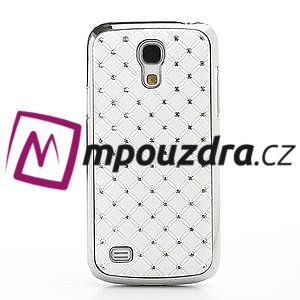 Drahokamové pouzdro pro Samsung Galaxy S4 mini i9190- bílé - 2