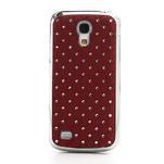 Drahokamové pouzdro pro Samsung Galaxy S4 mini i9190- červené - 2/5