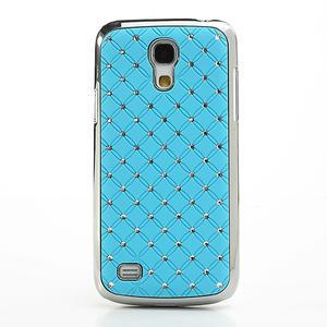 Drahokamové pouzdro pro Samsung Galaxy S4 mini i9190- svělemodré - 2