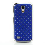 Drahokamové pouzdro pro Samsung Galaxy S4 mini i9190- modré - 2/5
