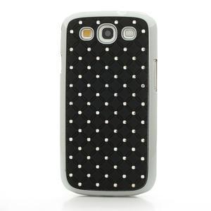Drahokamové pouzdro pro Samsung Galaxy S3 i9300 - černé - 2