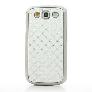 Drahokamové pouzdro pro Samsung Galaxy S3 i9300 - bílé - 2