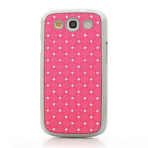 Drahokamové pouzdro pro Samsung Galaxy S3 i9300- světle-růžové - 2