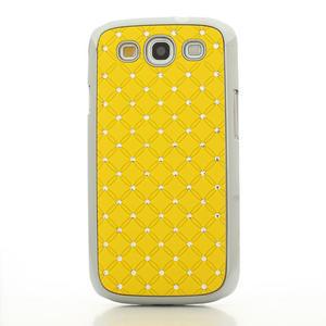 Drahokamové pouzdro pro Samsung Galaxy S3 i9300 - žlutá - 2