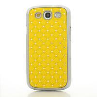 Drahokamové pouzdro pro Samsung Galaxy S3 i9300 - žlutá - 2/5