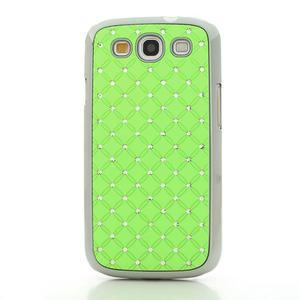 Drahokamové pouzdro pro Samsung Galaxy S3 i9300 - zelené - 2