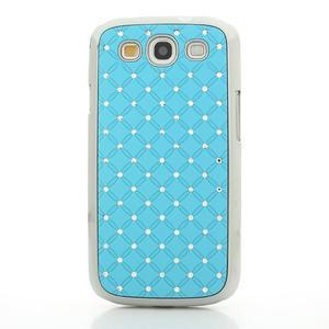 Drahokamové pouzdro pro Samsung Galaxy S3 i9300 - světlě-modré - 2